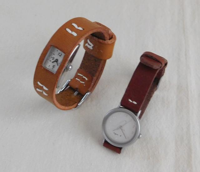 革の腕時計