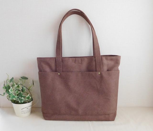 帆布のビジネスバッグ