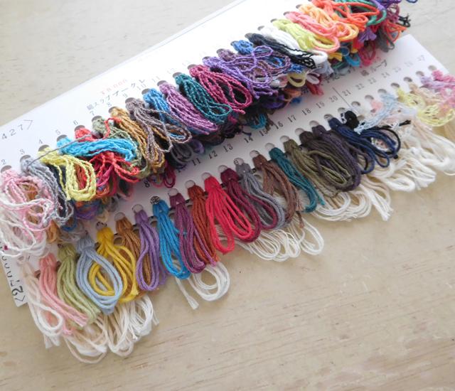 裂き織りの糸