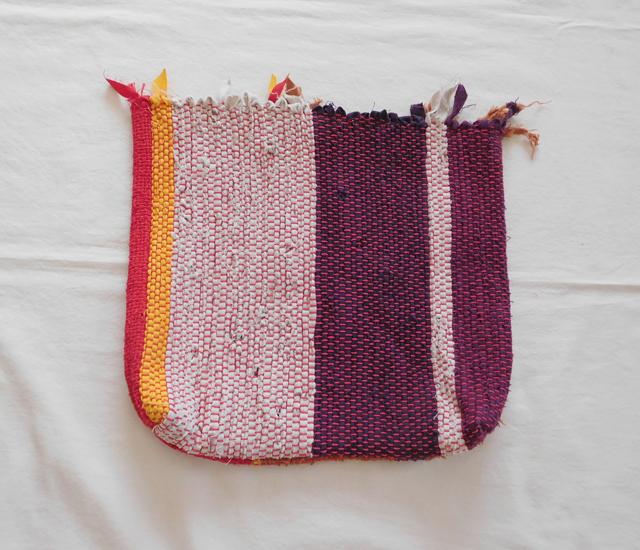 裂き織りバッグ 暖色系