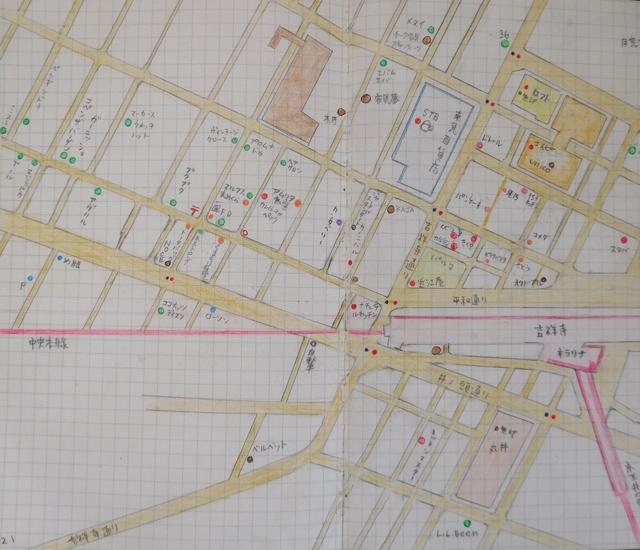 手書きの地図 吉祥寺