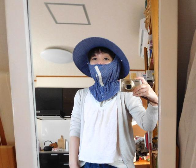 日焼け防止の帽子