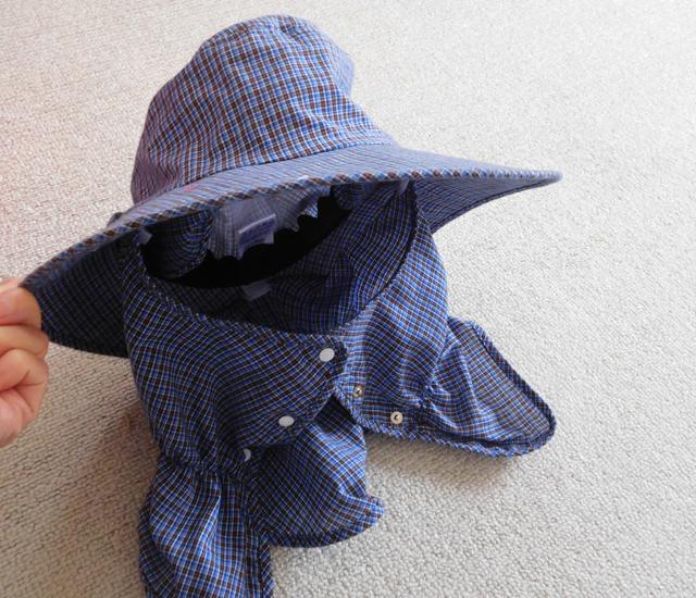 農作業帽子
