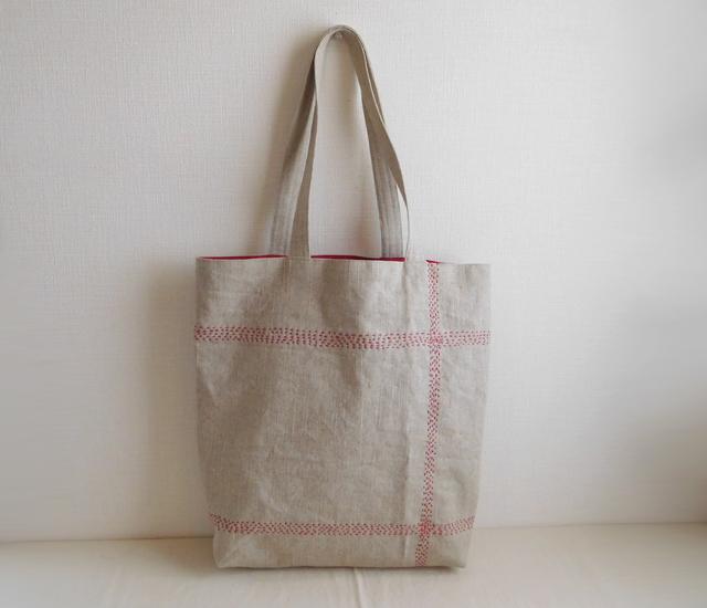 リネンのバッグ