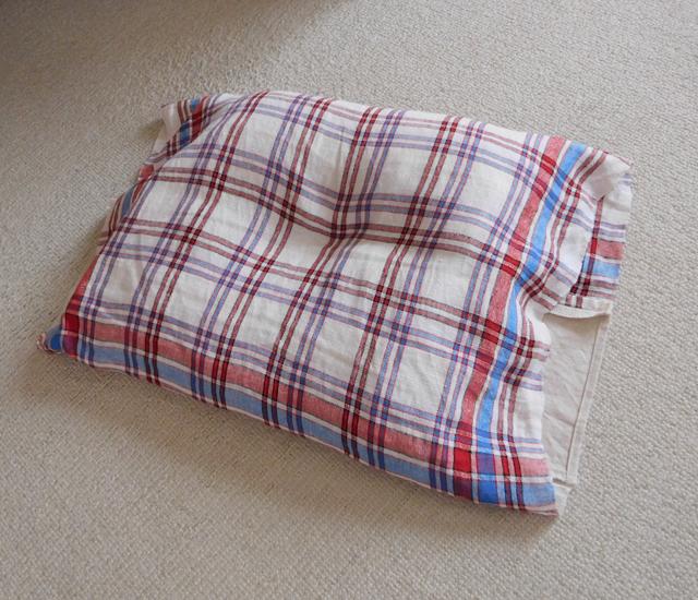 くぼみのある枕