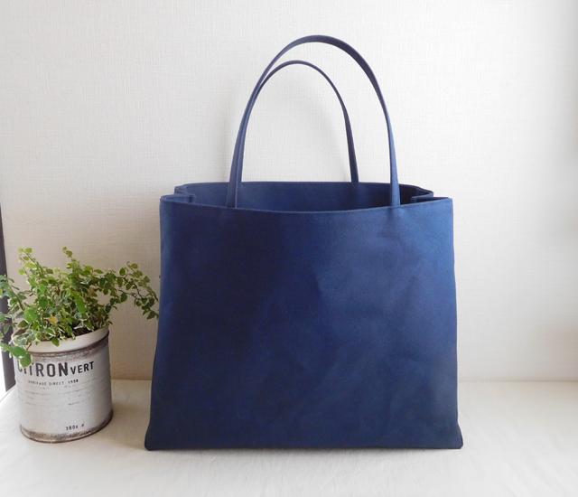 紙袋バッグ 紺色