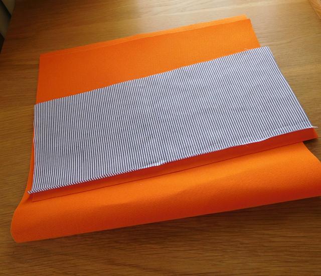 帆布 オレンジ色