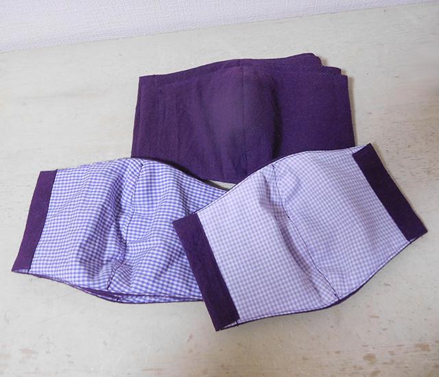 紫色のマスク